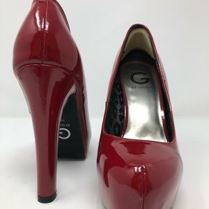 G by Guess Dark Red Patent Leather Pumps